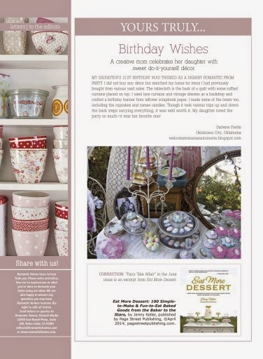 Featured In Romantic Homes Magazine