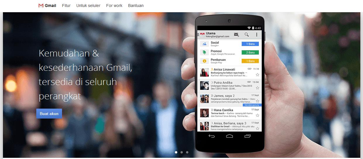 cara mudah membuat akun gmail, cara membuat email Google, Buat Akun Gmail
