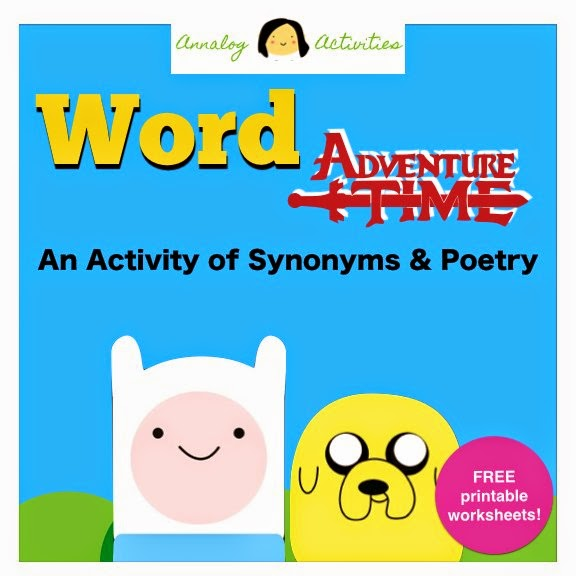 This Week\'s Freebie - Word Adventure Time: Fun with Synonyms and ...