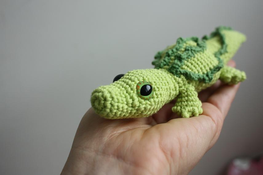 Amigurumi Alligator Free Pattern : HAPPYAMIGURUMI: Amigurumi crocodile and amigurumi porcupine!