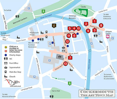 Cockermouth Interactive tourist trail map