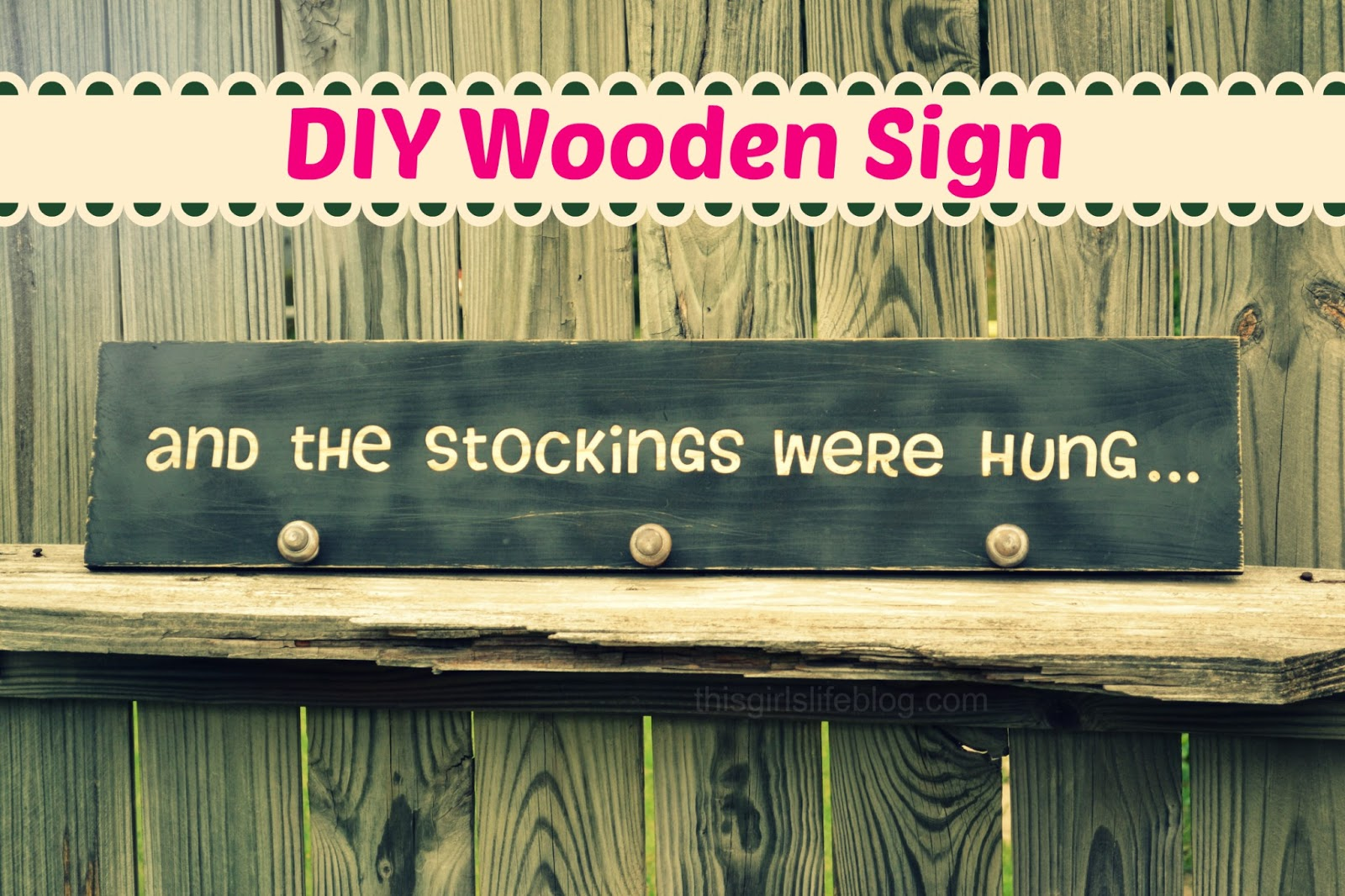 diy wooden sign and the stockings were hung this. Black Bedroom Furniture Sets. Home Design Ideas