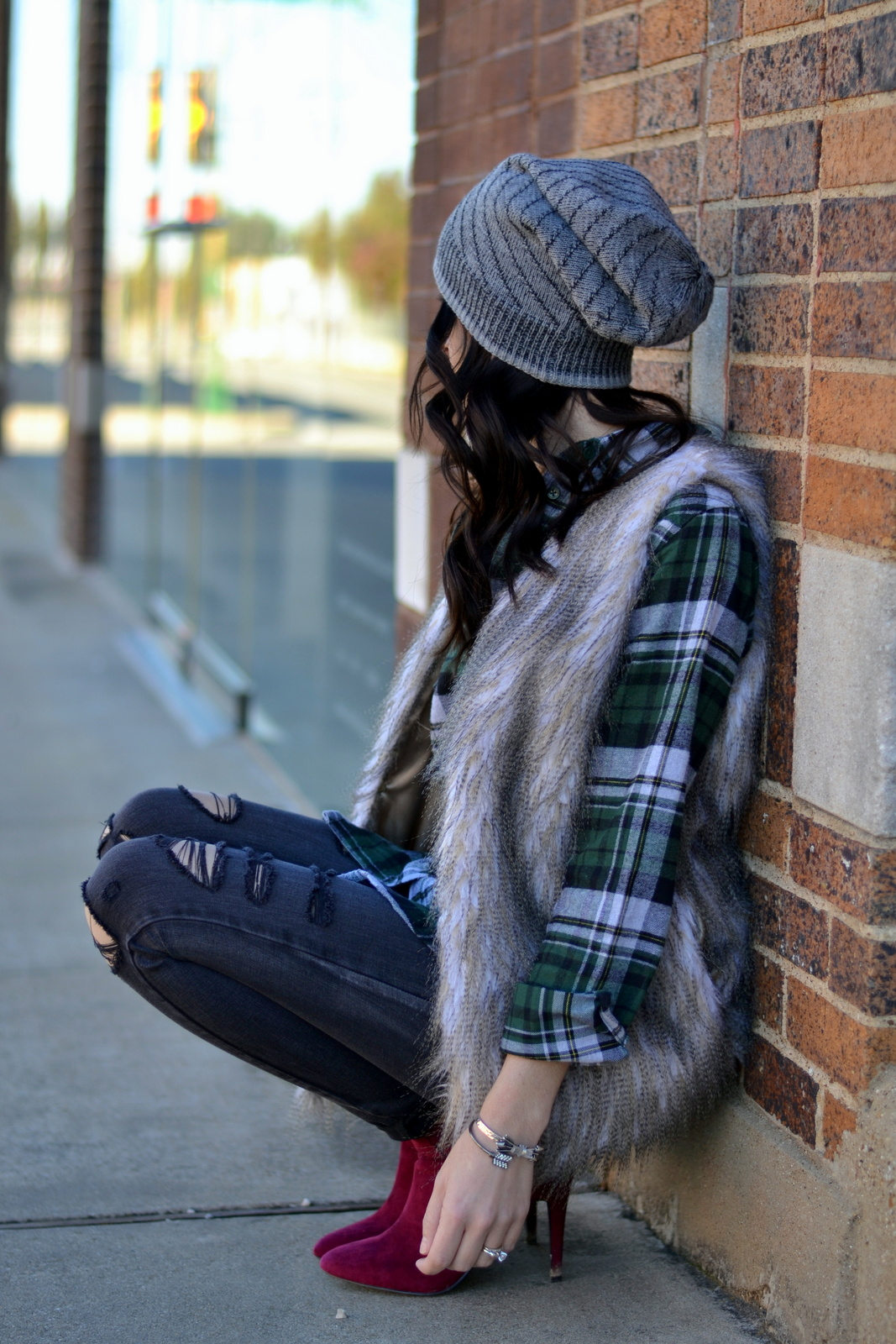 Fur_Flannel_Beanie_Ripped Denim