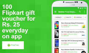 PriceTree App Offer : Get Rs 25 Flipkart Voucher Daily Absolutely Free