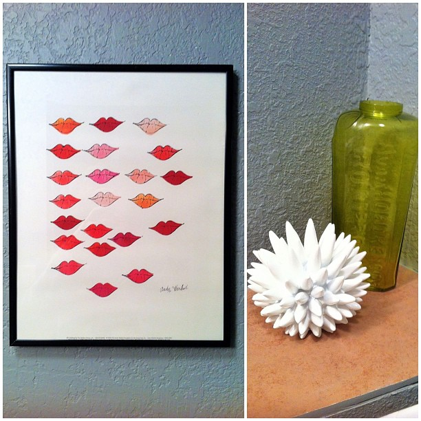 andy warhol lips print thrift Goodwill Nate Berkus for Target sea urchin
