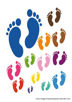 Pies de bebes para imprimir