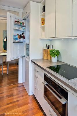 Einbauschrank für Waschmaschine und Kühlschrank für diese kleine Küche, Haushaltsgeräte tauschen, Miele Haushaltsgeräte, Miele Kühlschrank