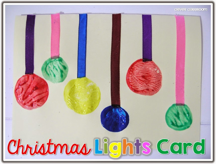 Christmas Lights Card and a Freebie