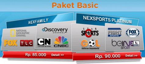 Daftar harga paket basic terbaru Nexmedia.