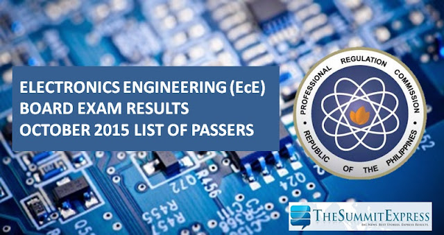 October 2015 ECE, ECT board exam results
