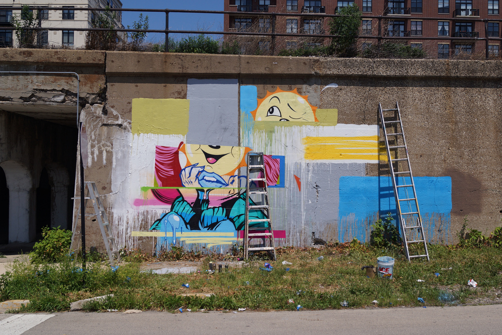 Pose x dabs myla new mural in chicago usa for Chicago mural project