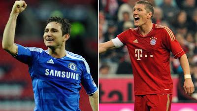 Lampard,Schweinteiger,chelsea,league,primier league,bundes liga,jerman league,bayern munchen,liga champion,champion league