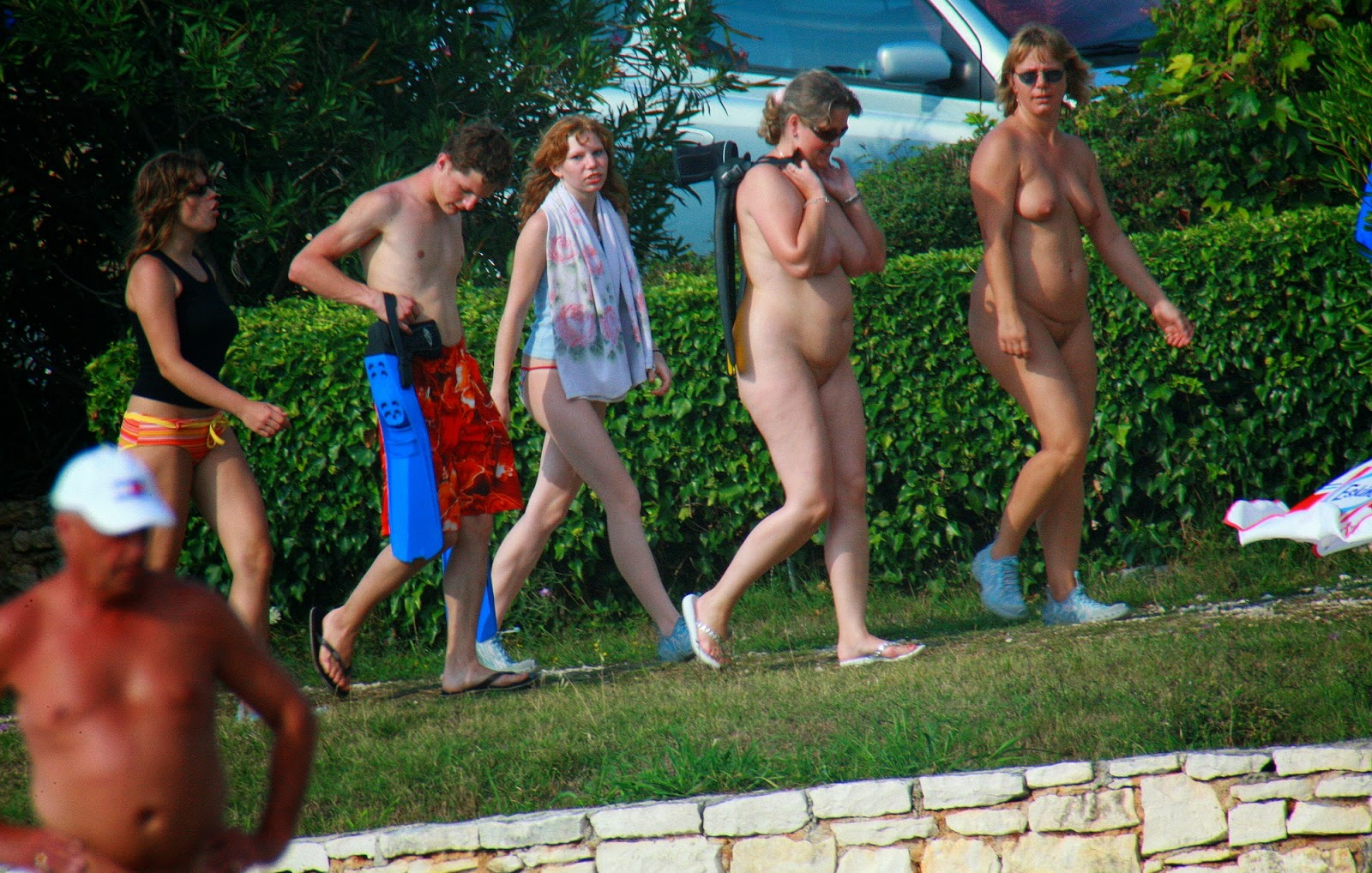Group nude women