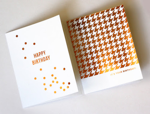 DIY metallic foil cards