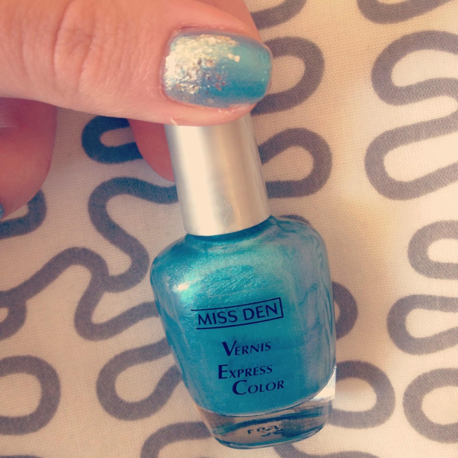 Miss Den Vernis Express Color Nail Polish Blue Star