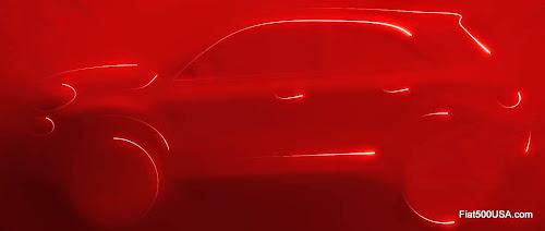 Fiat 500X Side View