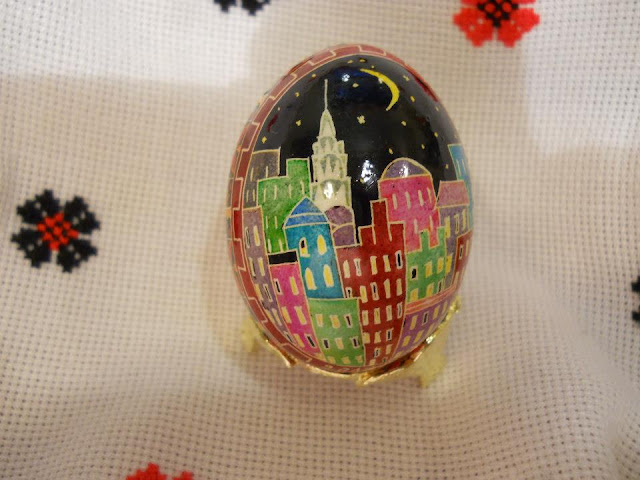 New York on an Easter Egg by Natalya Krawczuk
