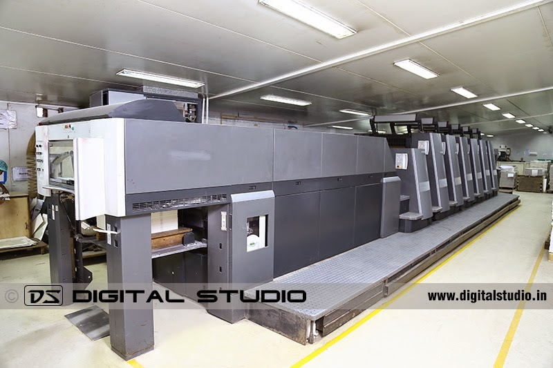 long shot of a printing machine