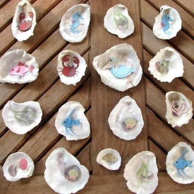 kids crafts shell memory game