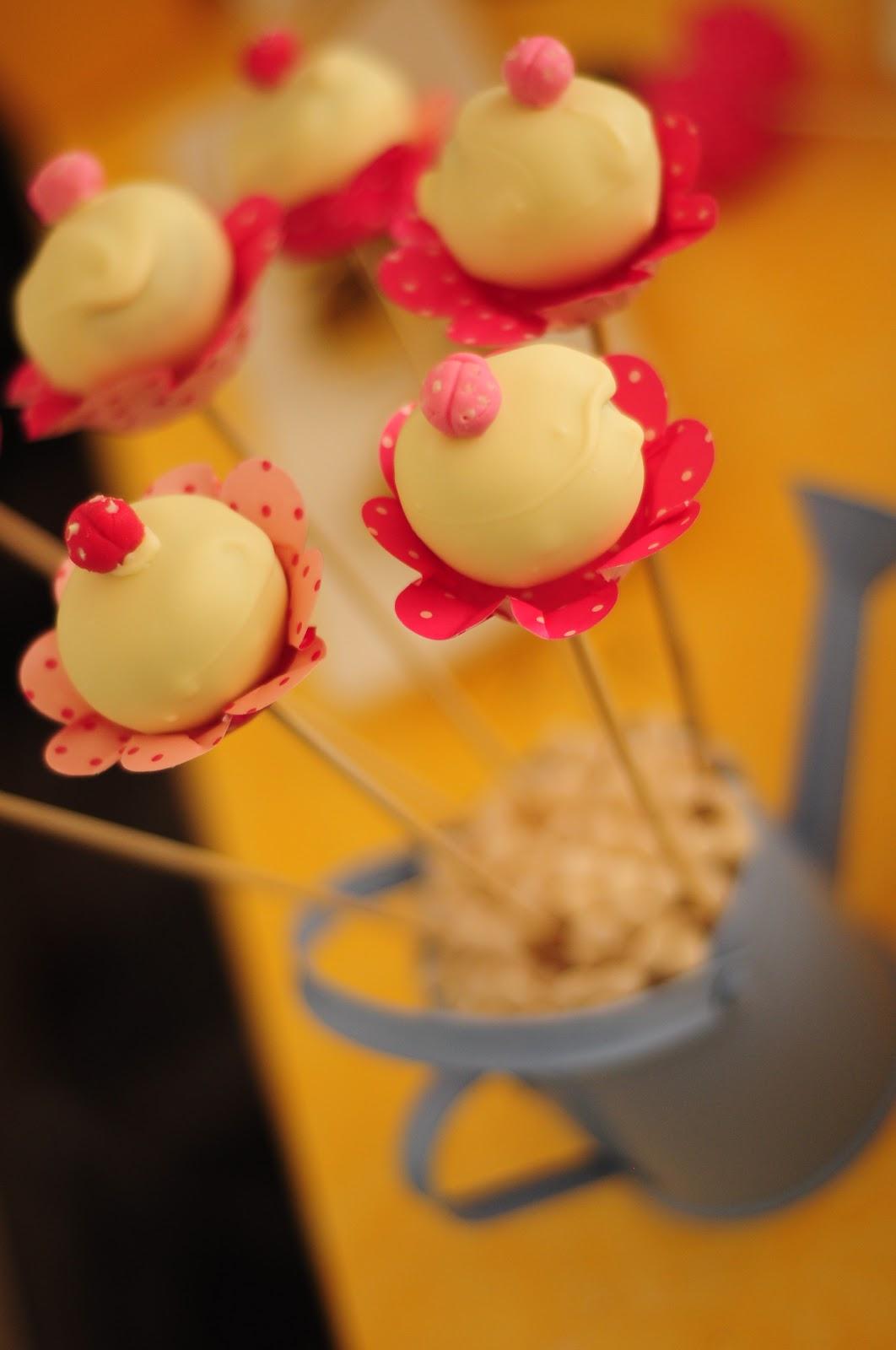 La douce belle cake pops for Cobertura para cake pops