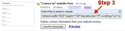 formulir email