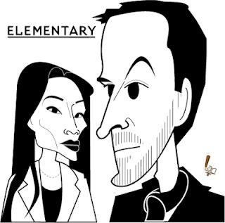 Jonny Lee Miller Lucy Liu caricature