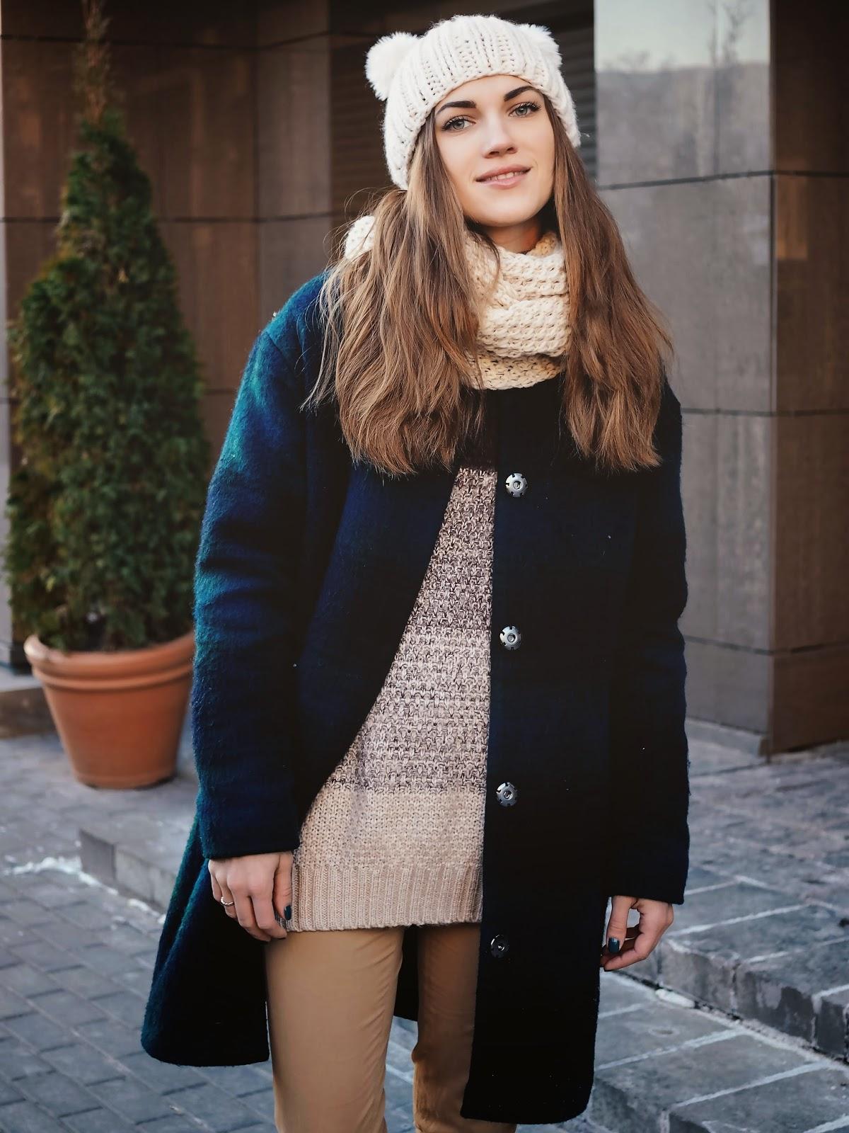 зимнее пальто оверсаизд
