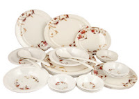 Buy Birde Printed 32 Pcs Melamine Dinner Set at Rs.650 only Via Pepperfry :buytoearn