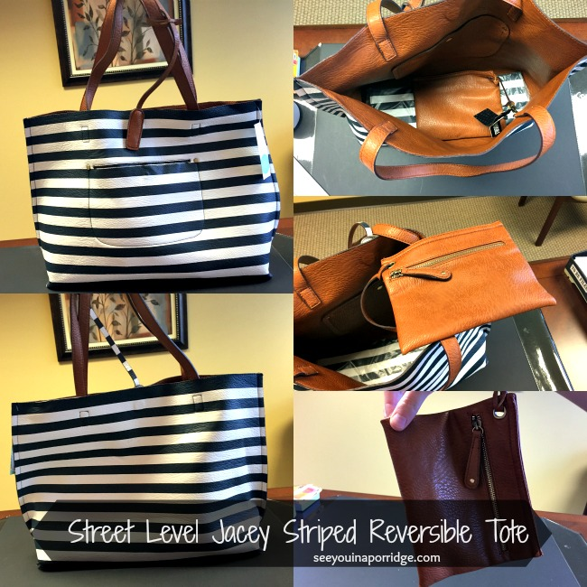 jacey striped reversible tote