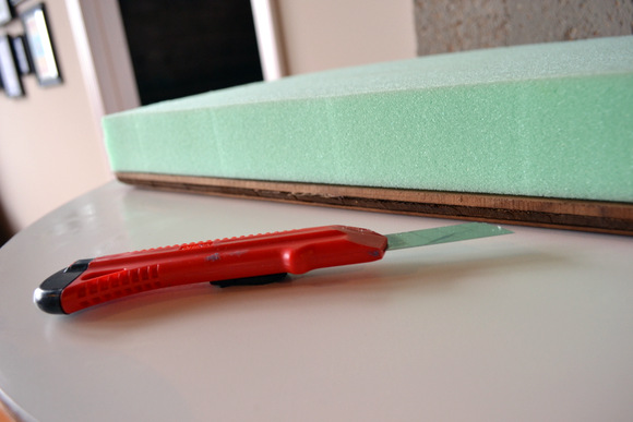 Use a utility knife to cut the foam to the correct size