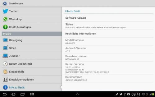 galaxy note 10.1 get xxblj9 update jelly bean