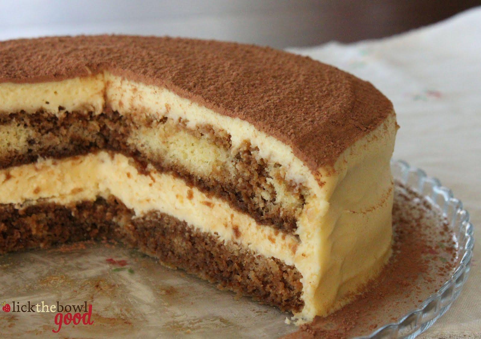 Cake recipe tiramisu