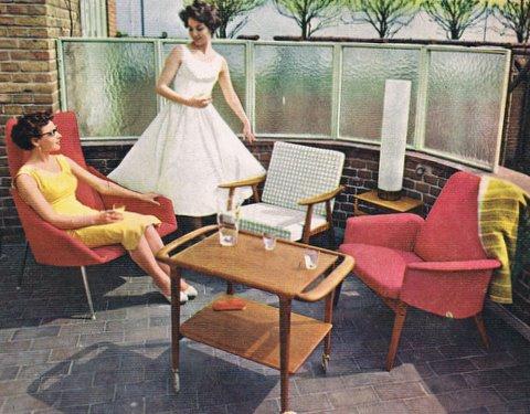 Dengang i 50erne: sommer på terrassen anno 1958