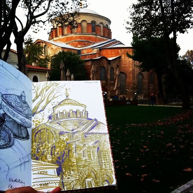 Artist: Gabrielle Reeves / Sketching in Istanbul, Fall 2014