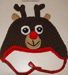 Reindeer Hat Knitting Pattern Free : Miss Julias Patterns: Free Patterns - Last Minute ...