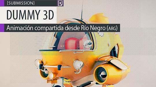 Animación. Spaceship de DUMMY 3D