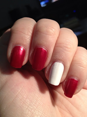 Kleancolor White and Red Heart