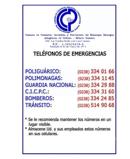 TELFONOS DE EMERGENCIAS