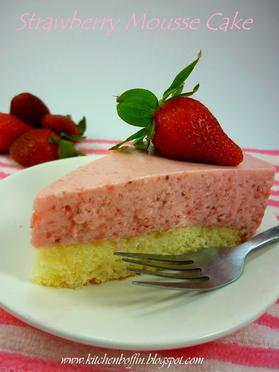strawberry mousse cake recipe ingredients cake one 9 vanilla cake
