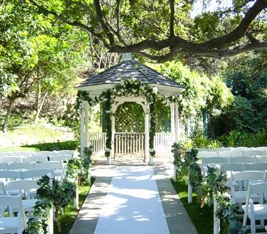Over the top events blog outdoor weddings for Outdoor wedding gazebo decorating ideas