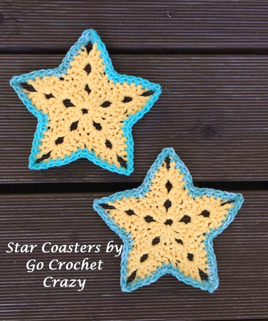 Star Coasters by Go Crochet Crazy