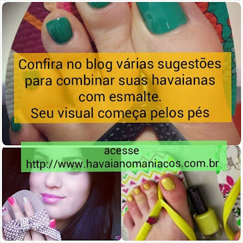 Havaianas com esmalte
