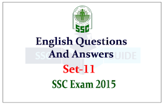 English Questions and Answer for SSC/FCI Exam