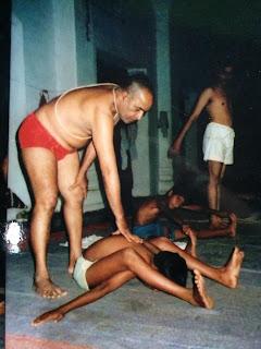 Ajay Kumar Practicing With His Teacher BNS Iyengar