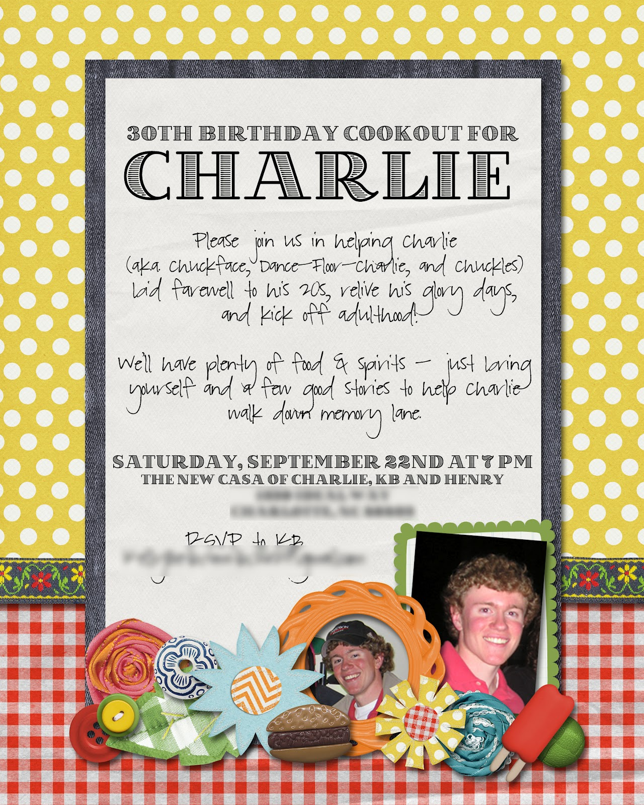 Slightly Askew Designs October 2012 – Dual Birthday Party Invitations