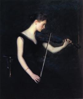 Edmund C. Tarbell, The violinist