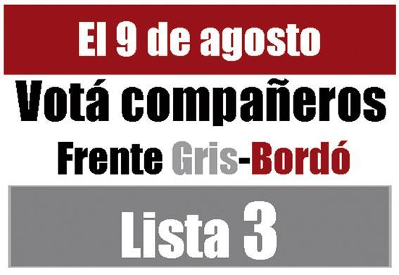 Frente Gris-Bordó (lista 3)