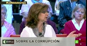 Paloma López, Candidata IU (Izquierda plural) al Parlamento Europeo en el debate de la SEXTA