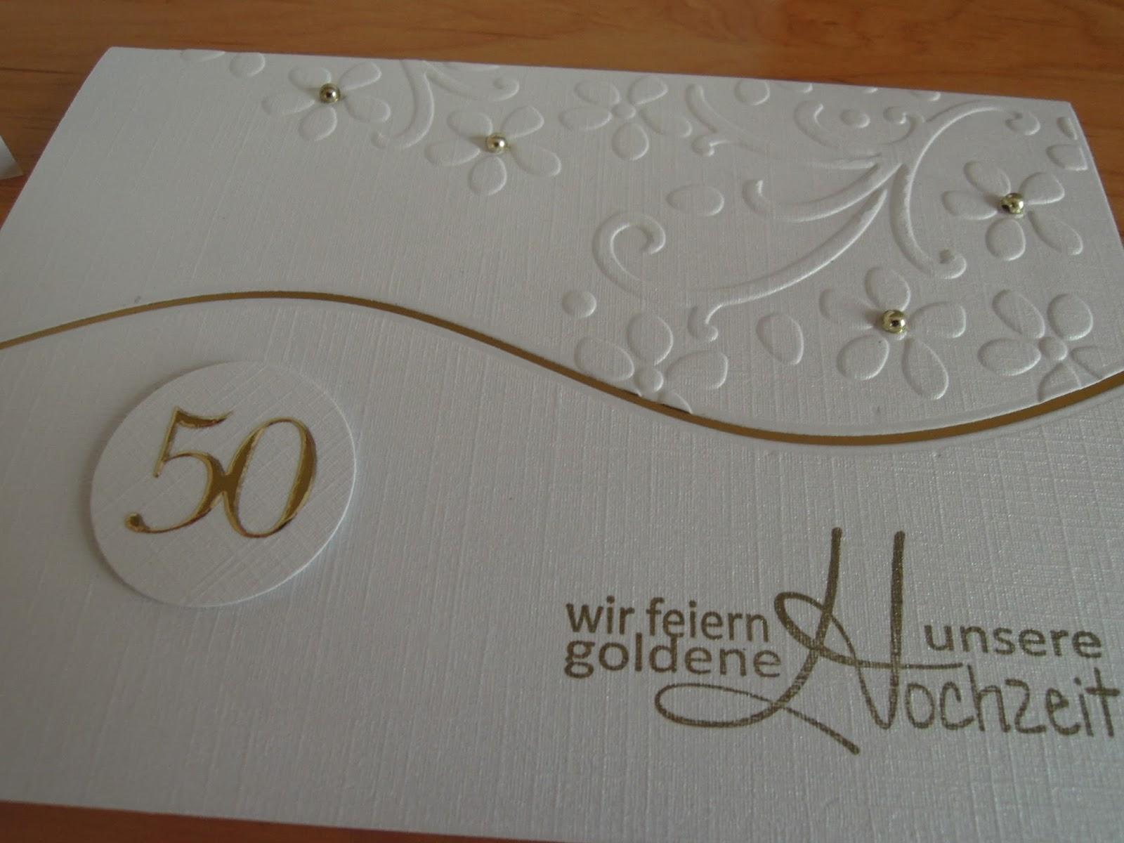 Stempeln Im Keller: Einladungskarten Zur Goldenen Hochzeit, Kreative  Einladungen