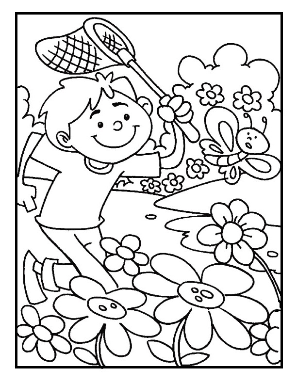 Holiday and seasonal coloring pages spring day moment for Welcome spring coloring pages